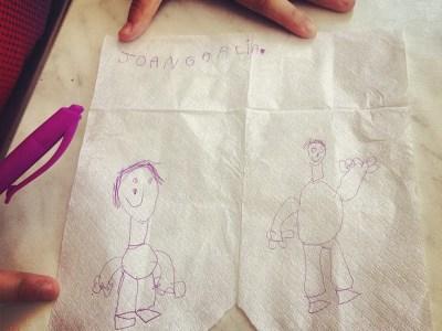 Retratos en una servilleta de papel, 1 ;))
