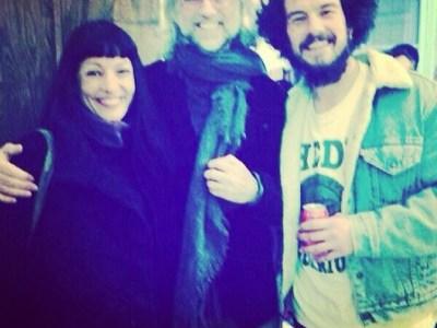 Con Juan Zuriguel Aliaga y mi chico Víctor Amela en el Mercart #01 #optimismo #arte
