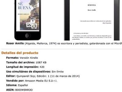 Gracias!!! 1er dia #sebuena en #kindle #amazon España y está en la lista de los más vendidos! Es muy emocionante ;))