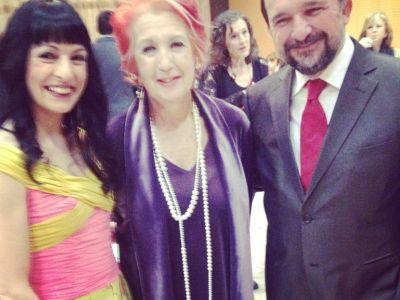 Con la inteligentísima y súper simpática Rosa Maria Calaf