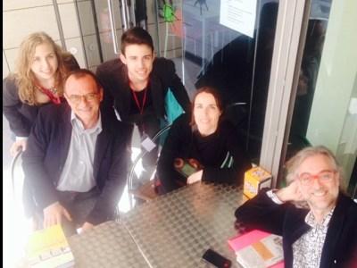 Ara, Victor Amela amb Miquel Pueyo @meripp93 @Charandacubeles a punt x @CatedraUdL de les 18:30h #SetmanaComunicacioUdL