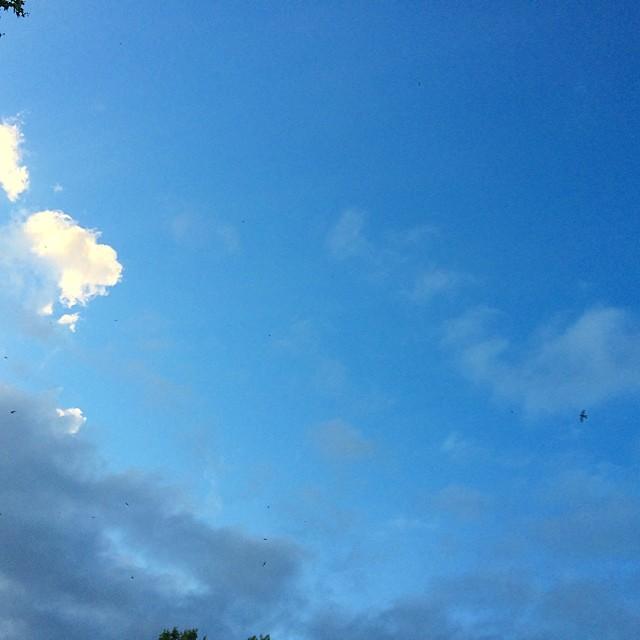 cielo azul con pequeñas nubes