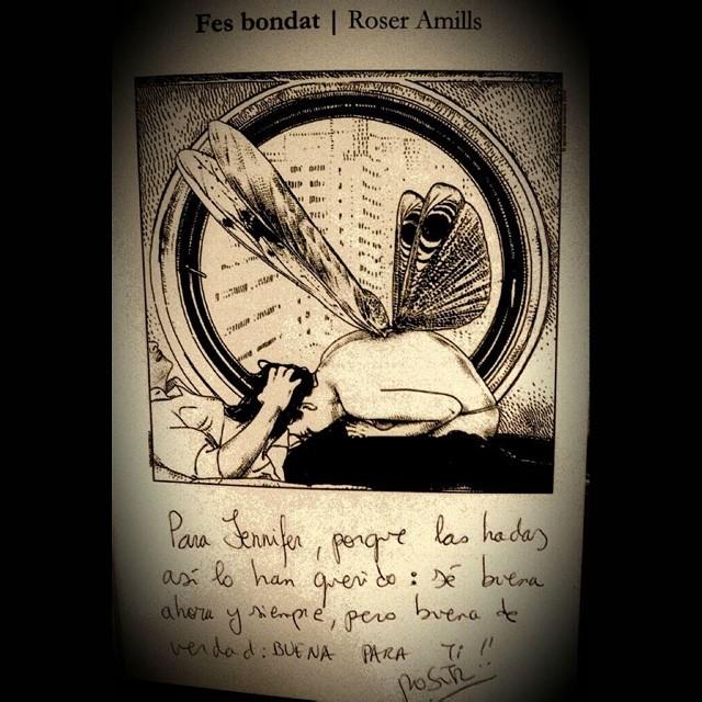 ilustracion de apollonia saintclair novela se buena de roser amills dedicatoria