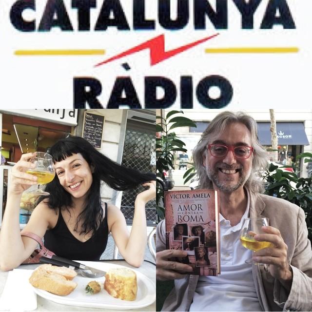 roser amills y victor amela preparados para entrevista de mireia mallol catalunya radio