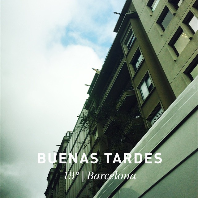 buenas tardes barcelona noviembre 2014