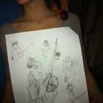 roser amills dibujo trenzas