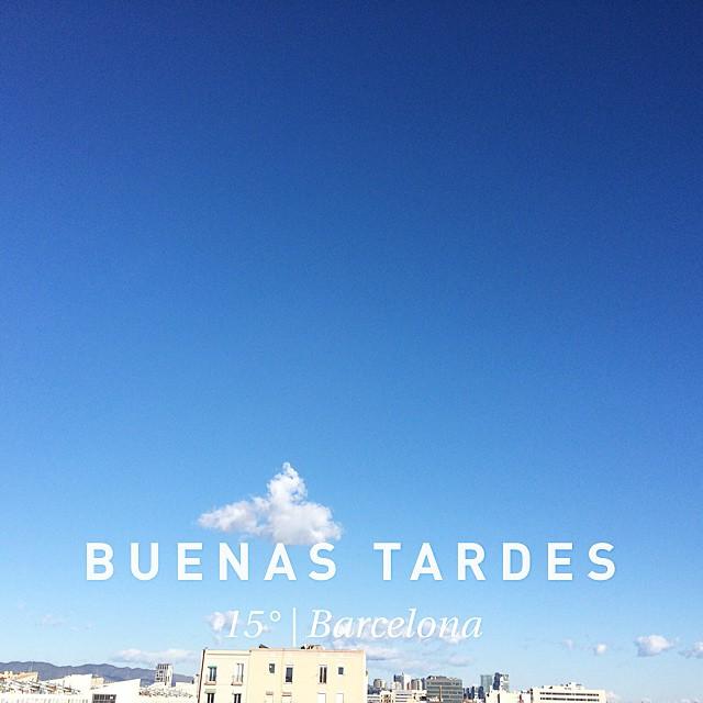 Buenas tardes!!! #weather #wx #barcelona #españa #day #winter #clear #es