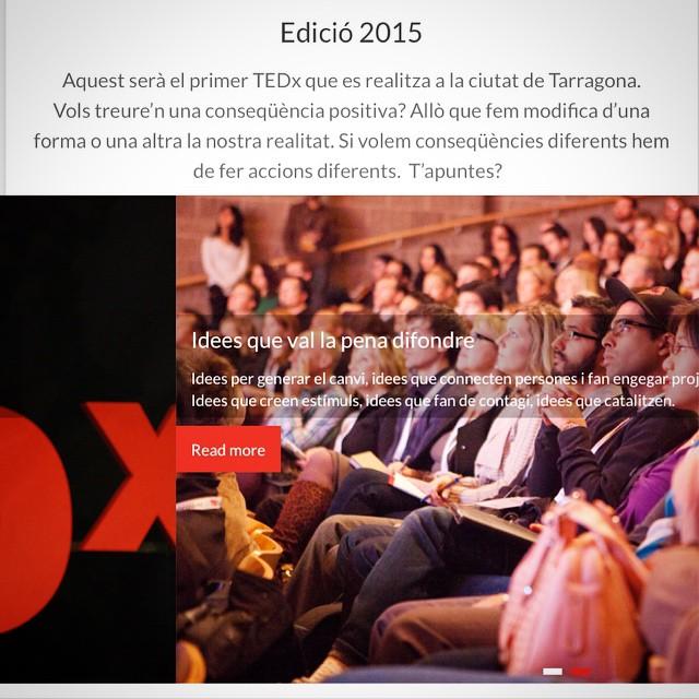 Tinc l'honor de ser ponent en el primer TEDx que es realitzarà a la ciutat de Tarragona ;)) http://ift.tt/1CzLiBj :))