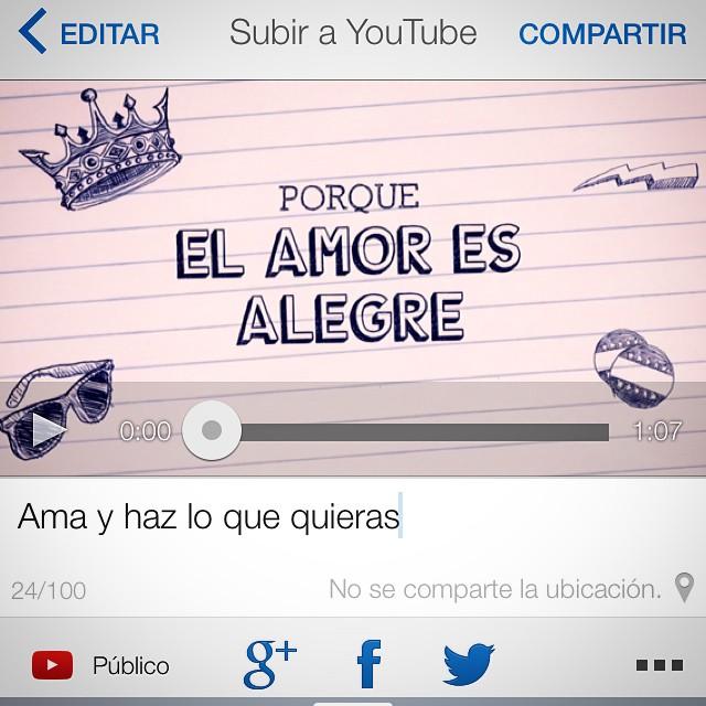 Hay nuevo vídeo en mi canal de @youtube, échale un vistazo y sonríe :))