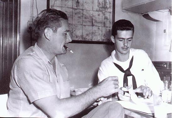 Errol in Majorca or Mallorca talking to Navy sailors when Zaca was his home base
