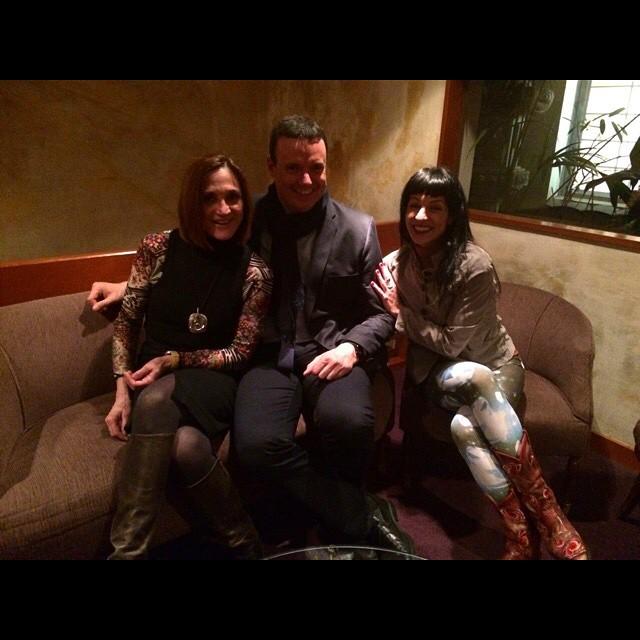 Roser Amills amb Tana Collados i Roger Ortuño