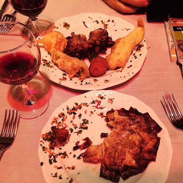 Carciofi alla giudia, deliciosas!!