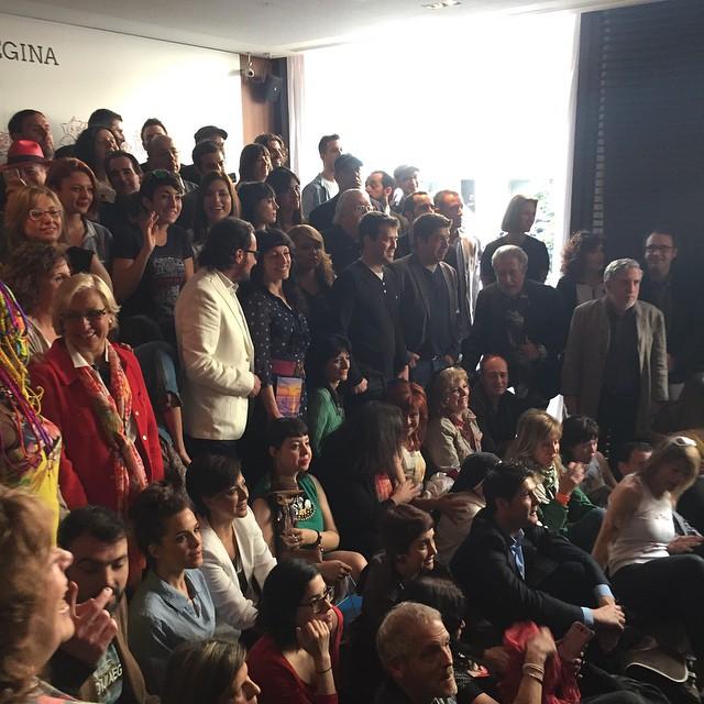 Os dejo la foto del desayuno de escritores de esta mañana #santjordi2015 #elecuadordeulises ;))
