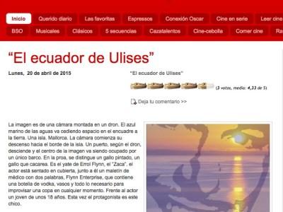 """Reseña de Carlos López-Tapia a """"El ecuador de Ulises"""" en loqueyotediga.com"""