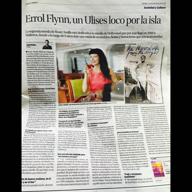 Entrevista Diario de Mallorca: Errol Flynn, un Ulises loco por la isla