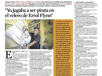 Hoy en @lacontralv Ventura Sala nos cuenta la estancia de Errol Flynn en Mallorca y que le gustó #elecuadordeulises ;))