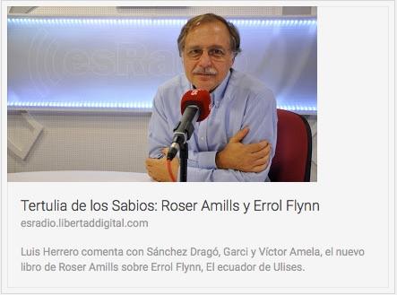 Entrevista roser amills novela El ecuador de ulises en tertulia de sabios en es radio