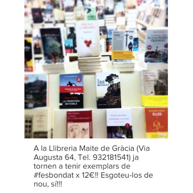 Ja has llegit #fesbondat ?