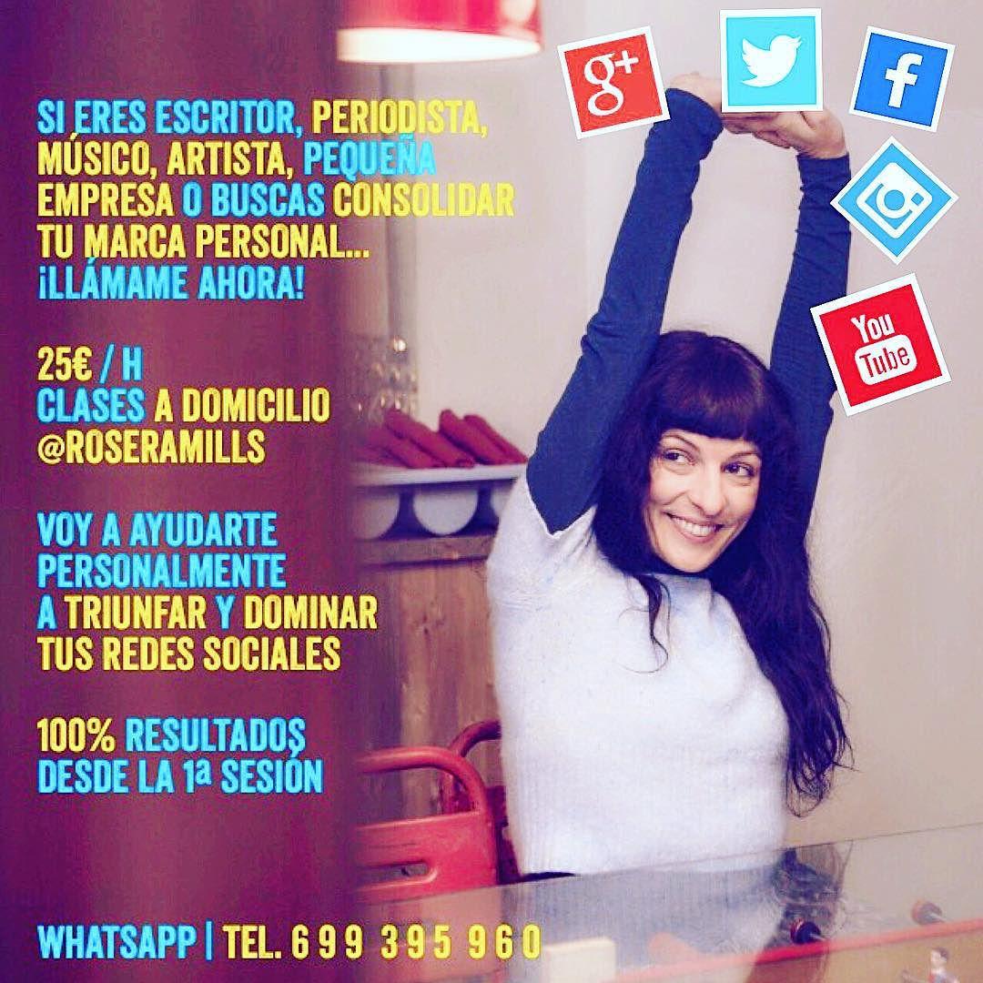 Quieres que sea tu profesora de #redessociales? Aquí me tienes!