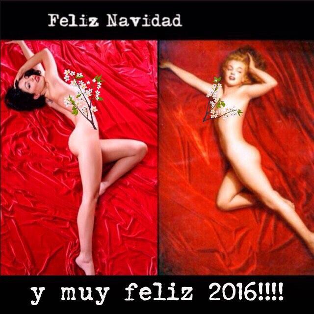 Os deseamos muy feliz Navidad y un próspero y alegre 2016!! #seamosmarilyn #divirtamonosmientraspodamos ;))
