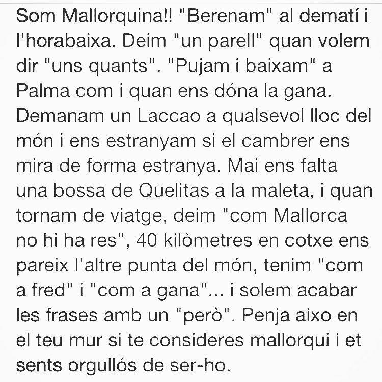 Sí, jo #sommallorquina d'#algaida, i tu, d'on ets?