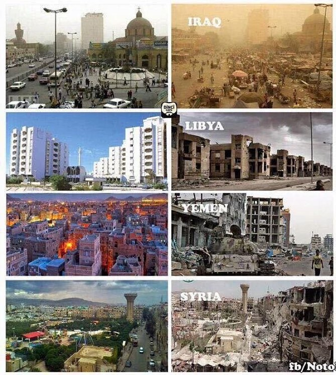 Guerra derechos humanos libia irak yemen siria