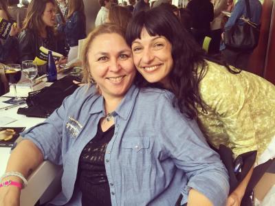 Con mi amiga guerrera y triunfadora Megan Maxwell en recuerdo del bonito Sant Jordi 2016
