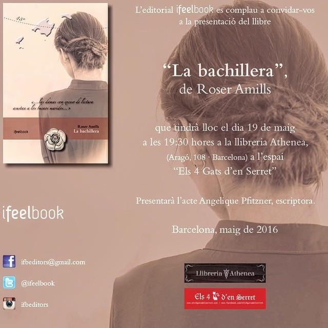 El dia 19, dijous, ens trobem a Barcelona, a la llibreria Athenea, amb @ifbeditors