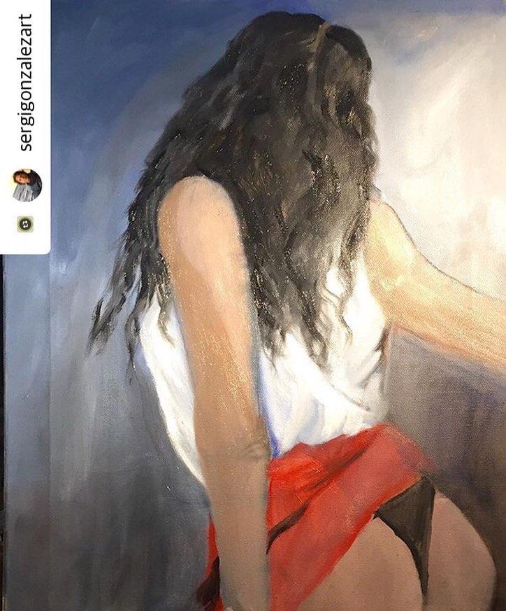 El gran @sergigonzalezart me ha pintado así, a partir de un #amillspublicwc Qué os parece?