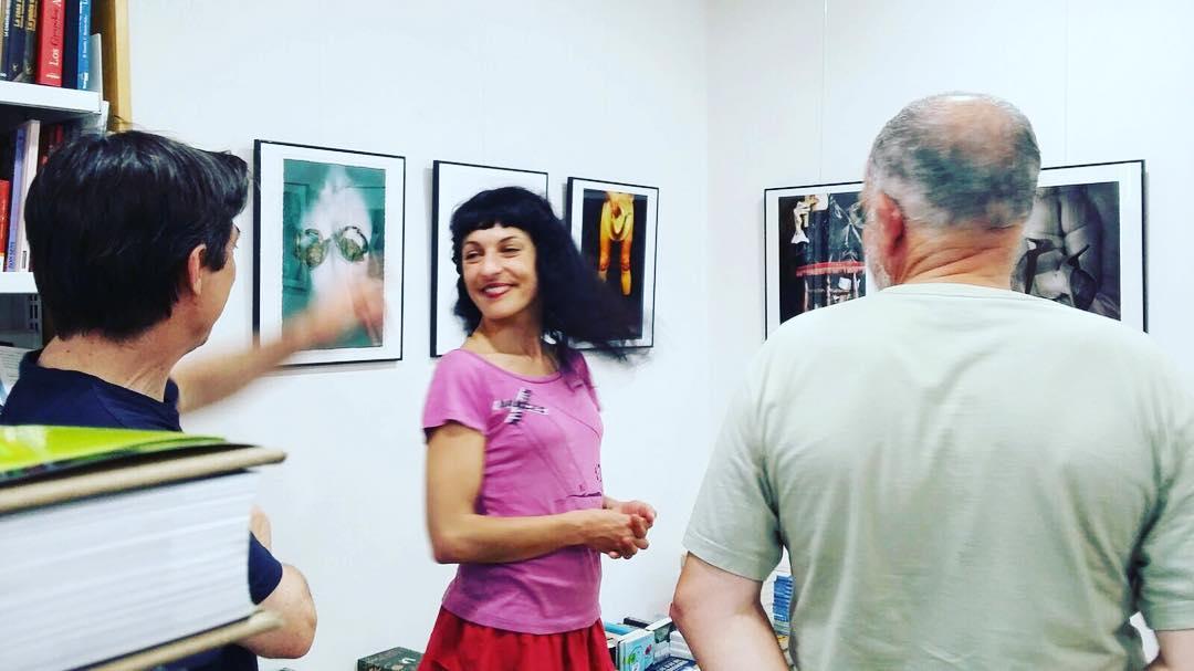 Expo en #quatrecantons de Berga inaugurada! Ha sido un honor ;))