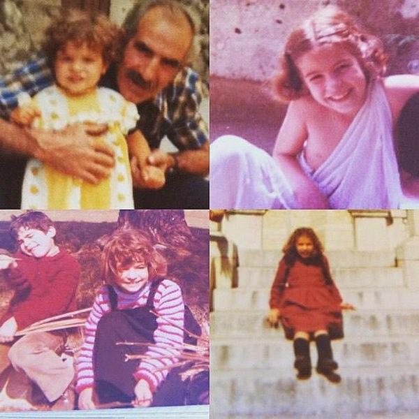 De niña, era rubia, ¿qué tal lo disimulo? :))