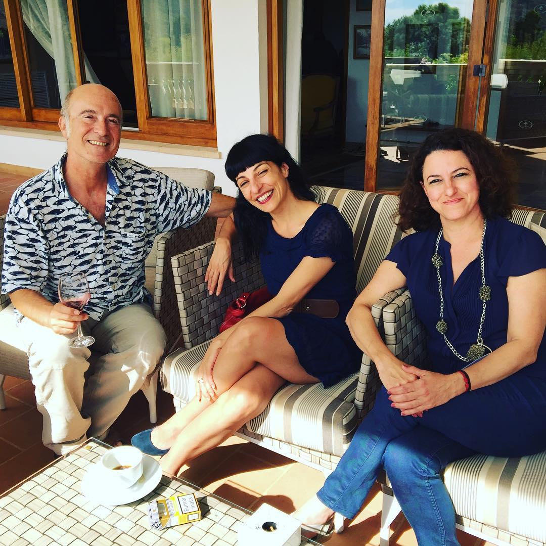 Con Francesca G. Desnoyer y Álvaro Ardévol, #conversesformentor2016 Foto de @marco_blued