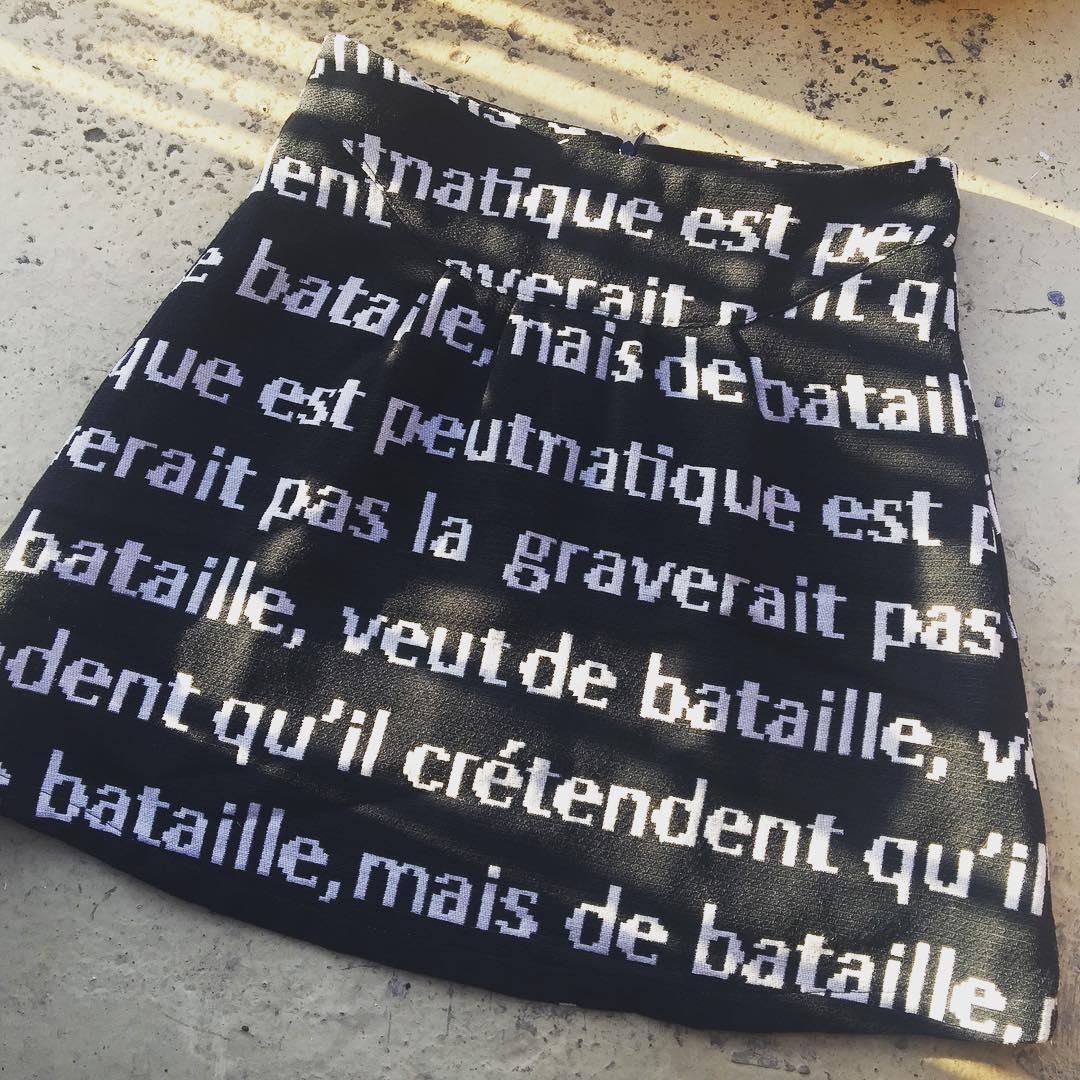 Qué os parece esta falda de #bataille que me han enviado Laia Roca i @who_bcn ? A mí me encanta!!