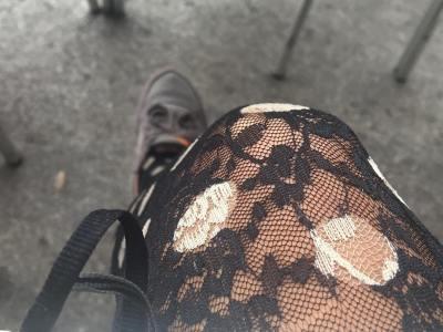 Ni filtros ni nada raro, esta es la combinación: bambas, encaje y topos ;)) #buenastardes
