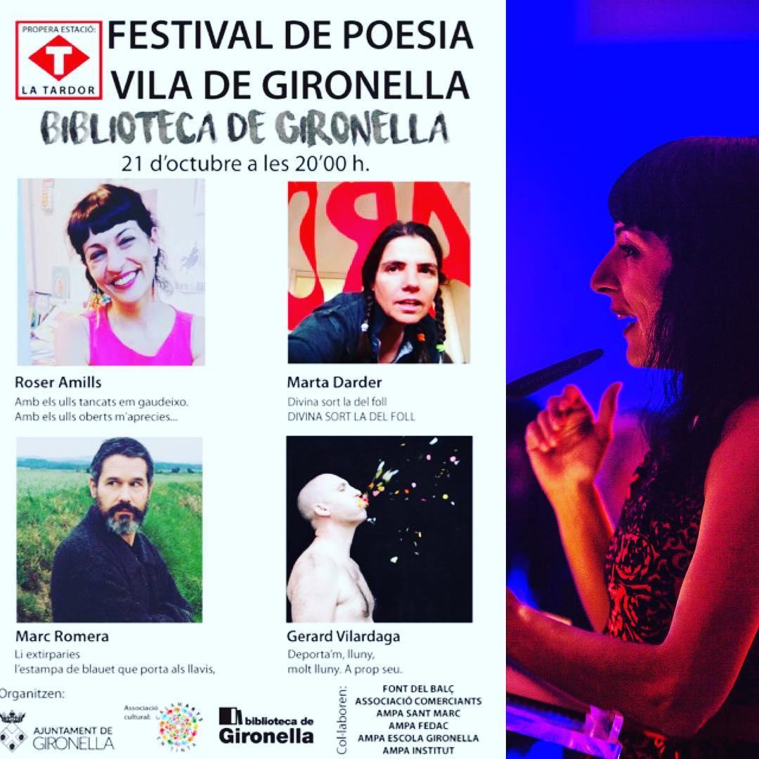 Veniu!! Divendres a les 20h a #Gironella, recitem #festivaldepoesiaviladegironella #berguedà