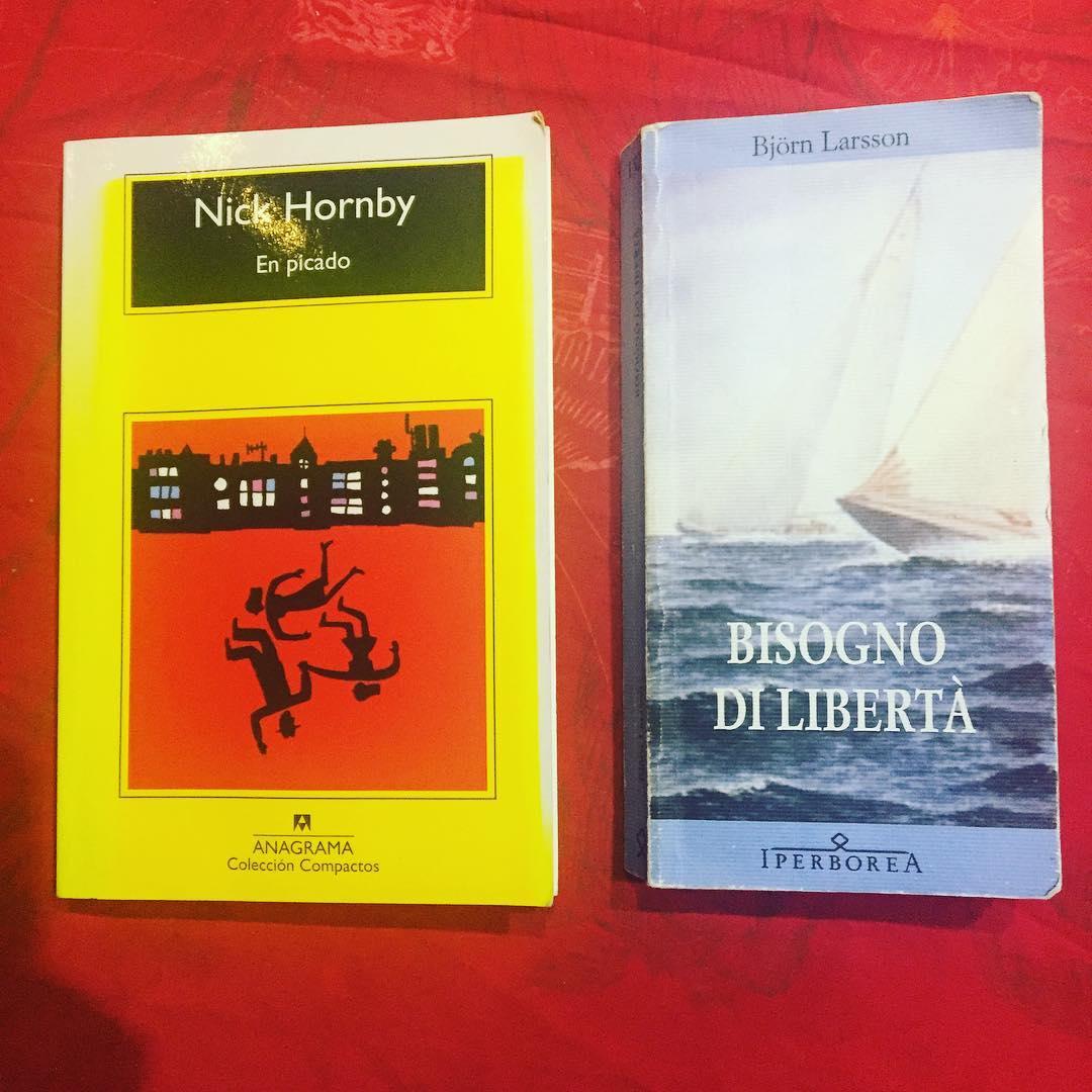 Gracias @marco_blued por estas dos lecturas para el fin de semana! #nickhornby #bjornlarsson ;))