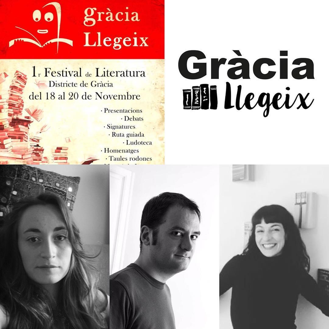 #graciallegeix dissabte 19, 16.30 hores Biblioteca Jaume Fuster Taula rodona, de l'amor a l'erotisme. Roser Amills, Francesc Miralles, Teresa Roig