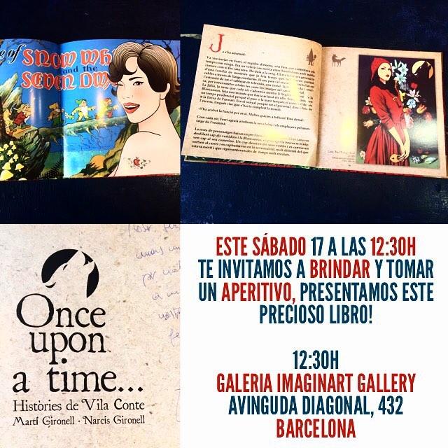Este sábado 17 a las 12:30h ven a brindar y tomar un aperitivo, presentamos este precioso libro! 12:30h Galeria Imaginart Gallery Avinguda Diagonal, 432 Barcelona