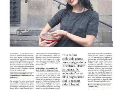I aquí la pàgina 2 de l'entrevista que m'ha fet la gran Cristina Moreno Bonet a @el_triangle Entrevista 11/01/2017 pàg. 2 | Foto d'Àngel Guerrero