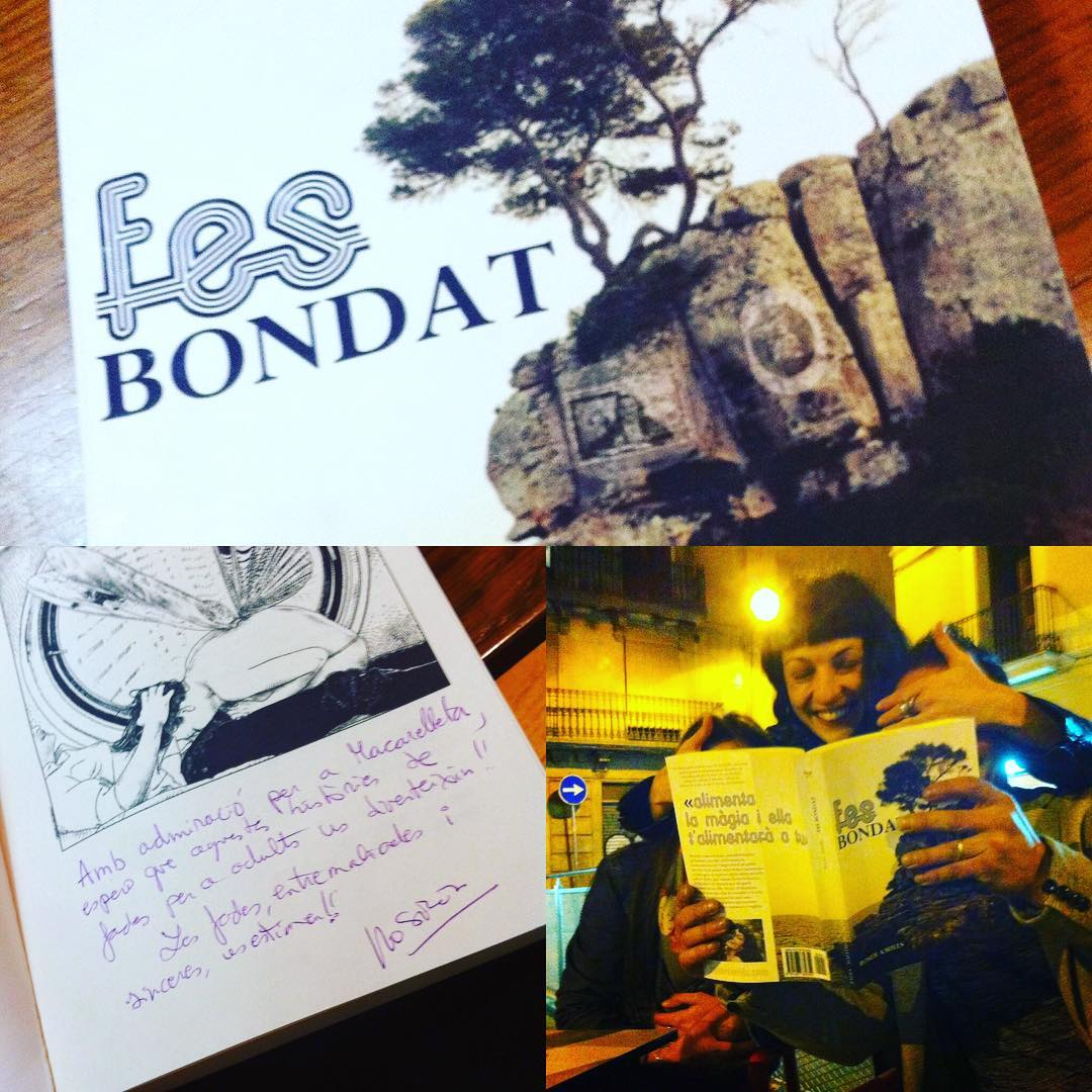 Fue muy especial quedar con @macarelleta y dedicar #FesBondat #SeBuena :))