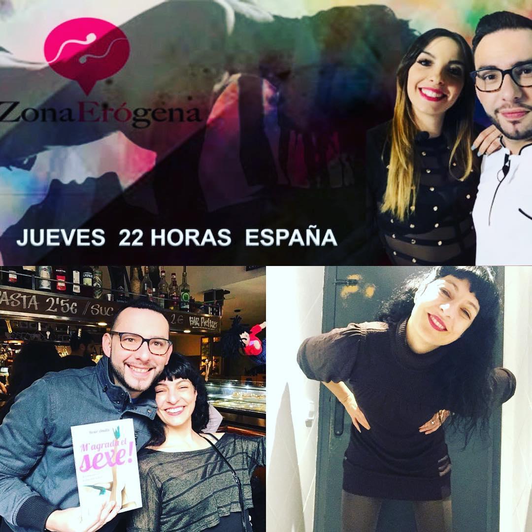"""Jueves, 22h: me entrevistan los #Erógenos @ubalaraque @jugandoconeros, """"Promiscuidad o libertad sexual"""" en La zona erógena, podréis verlo en www.zoombarcelona.com y vip Channel para toda América. Os esperamos!"""