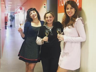 Gràcies Gemma Torelló pel gran vi que ens has donat a tastar en primícia! @atm_cava @anemdetarda avui a Ràdio4