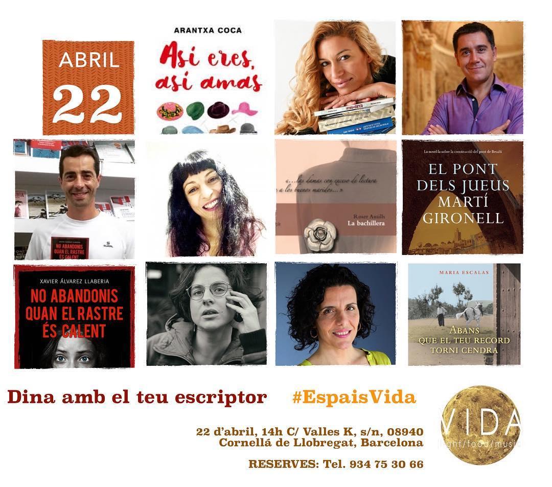 Vols dinar amb nosaltres a @espaisvida dia 22 d'abril? Reserva, que hi ha poquetes places 💕