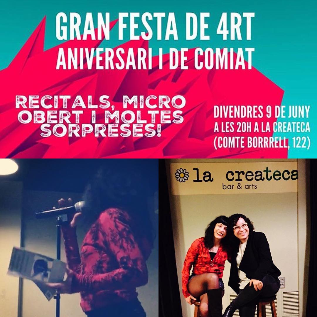 Divendres serà una nit ben especial: na @mantoniamassanet ha organitzat un recital a #lapoeteca molt especial, veniu!