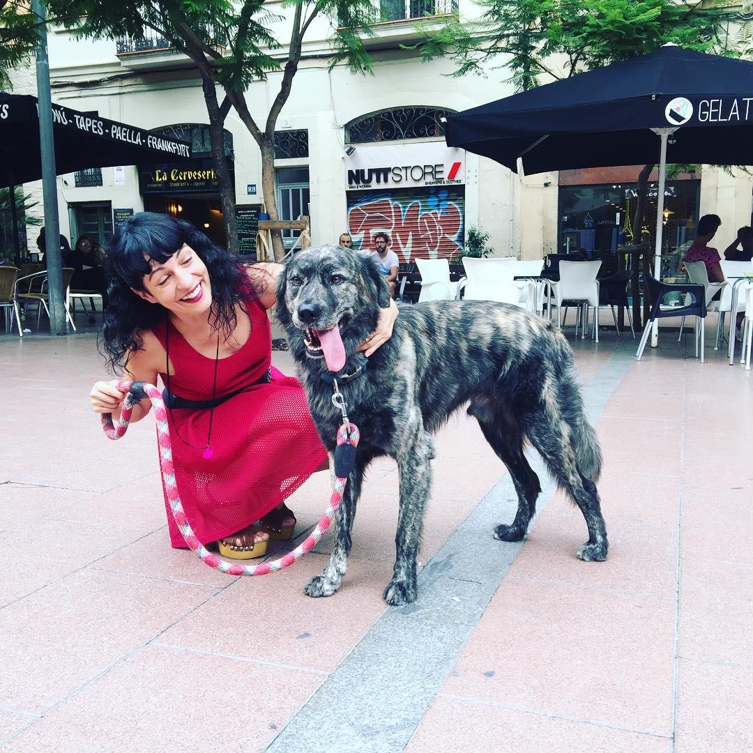 Os presento a Muku, el bellísimo perro de Merche :))
