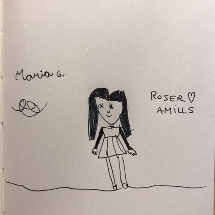 Comparto con mucha ilusión este dibujo que me ha enviado la talentosa María (6 años): gracias, preciosa!!! 💕