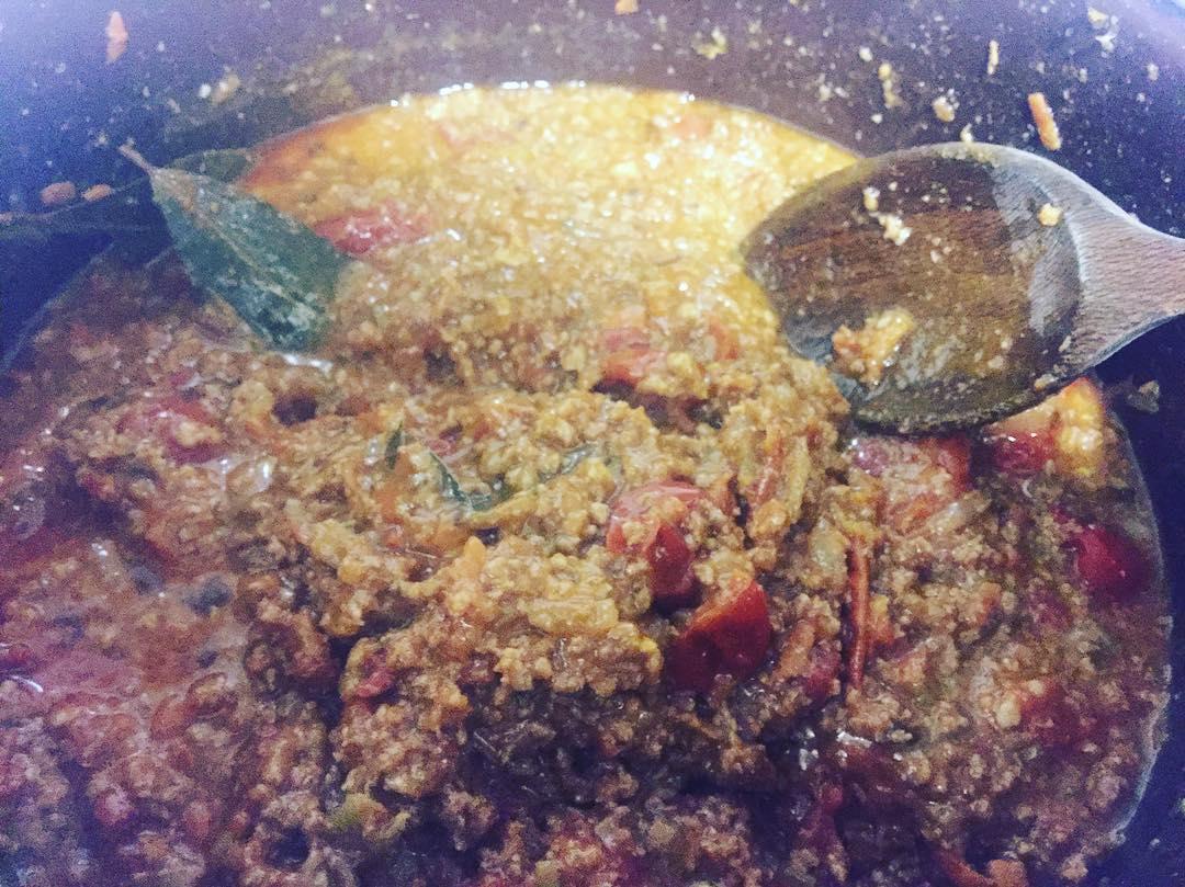 Por fin he aprendido a preparar la auténtica salsa #bolognese ;)) O casi!