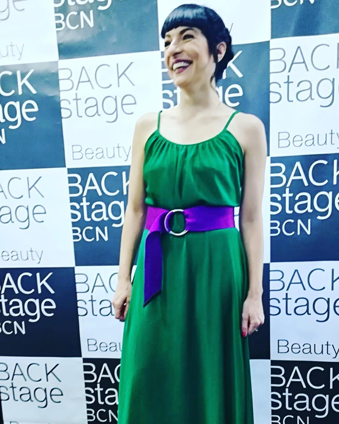 roser amills @backstagebcn me han peinado y maquillado así de bonita! Ahora a los #10premisgaudí