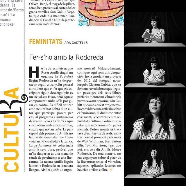 """Fer-s'ho amb la Rodoreda"", #adacastells parla de #elplaerdelalectura ;)) #orgasme"