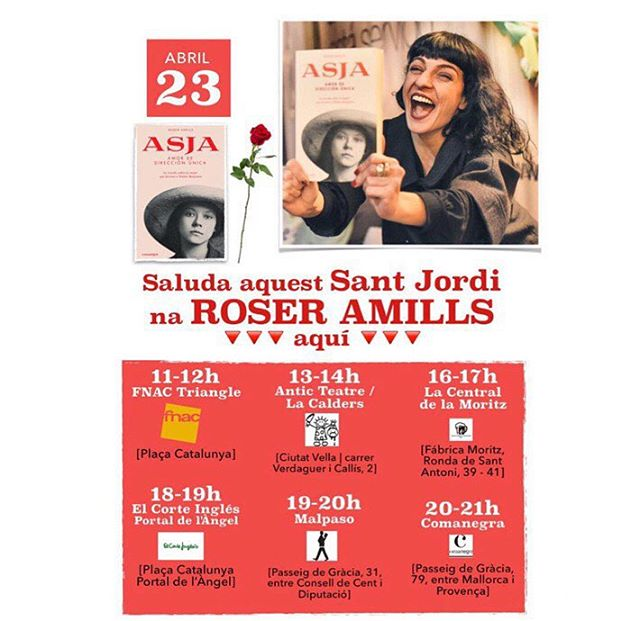 Dónde y a qué hora firma Roser Amills este Sant Jordi 2018